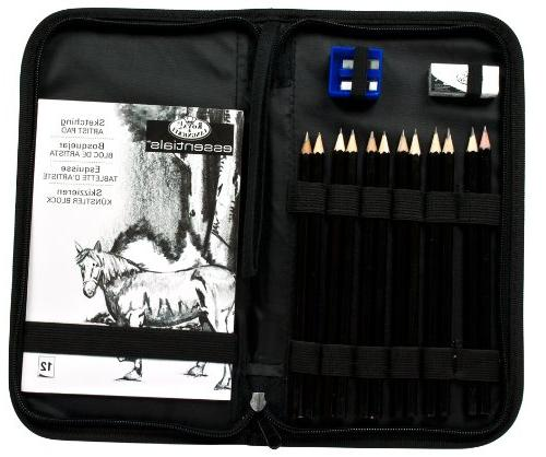 Drawing Sketching Set Zippered Carrying Case
