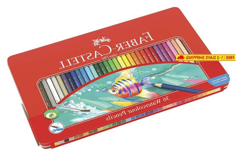 fabercastell 115931 watercolor pencil set of 36 assorted