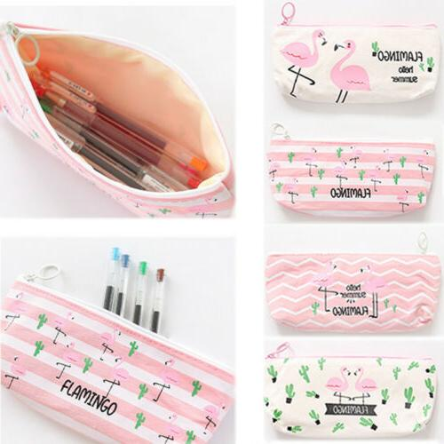 Fashion Pencil Box Cactus School Supplies Canvas Cute Pencil