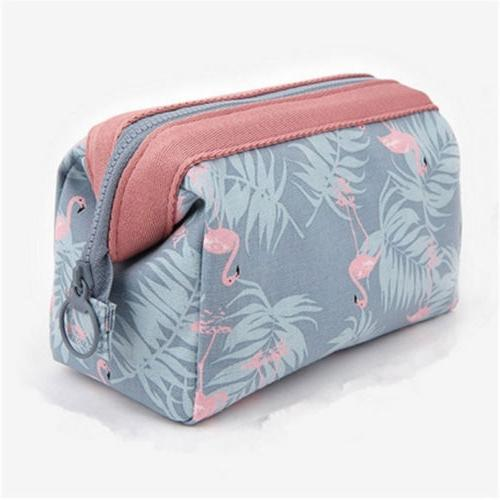 Flamingo MAKE BAG Pencil Case Travel Girls Handbag US
