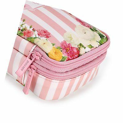 BTSKY Floral Pencil with Compartments Double Layers