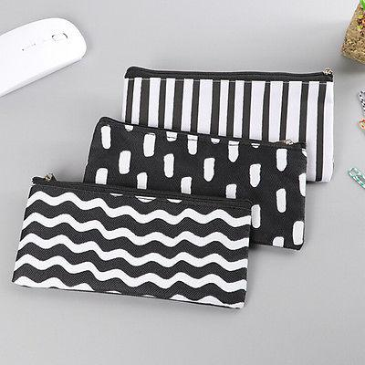 Girl Black Pen Case Cosmetic Pouch Pocket Holder Makeup new.
