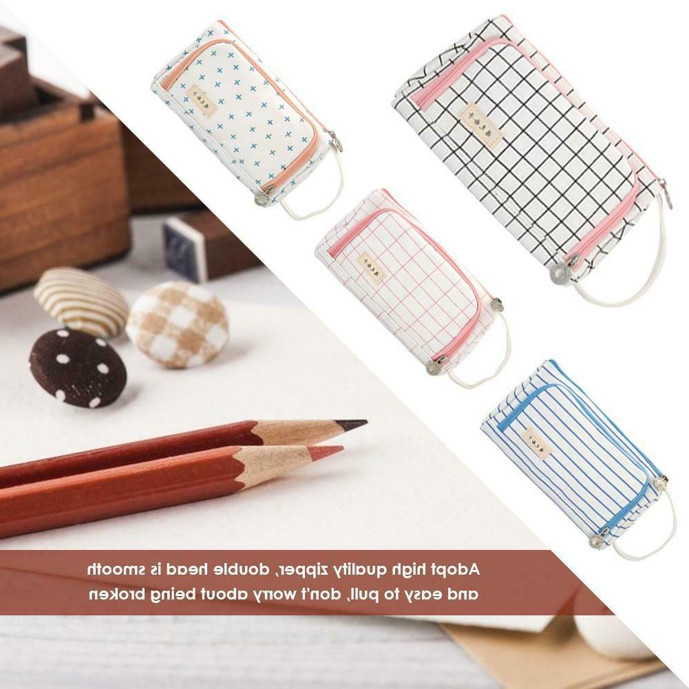 girls boys student solid color pencil case