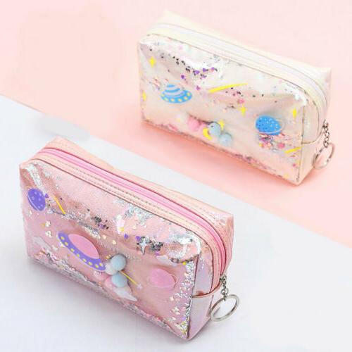 Cute Pencil Case Leather Makeup For Gifts