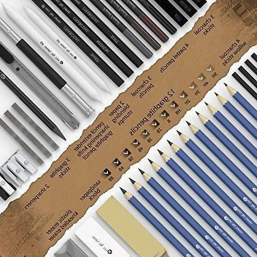 Castle Art Drawing Pencils Set Kit, Artist