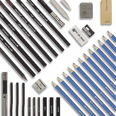 Castle Graphite Drawing Pencils and Set