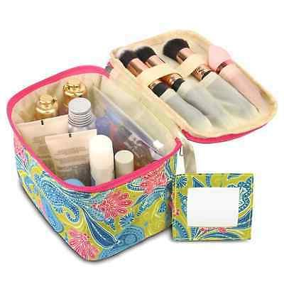green paisley pencil case toiletry holder travel