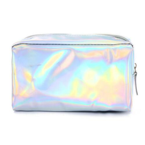 Holographic Multi-Function Purse Travel Makeup Cosmetic Bag