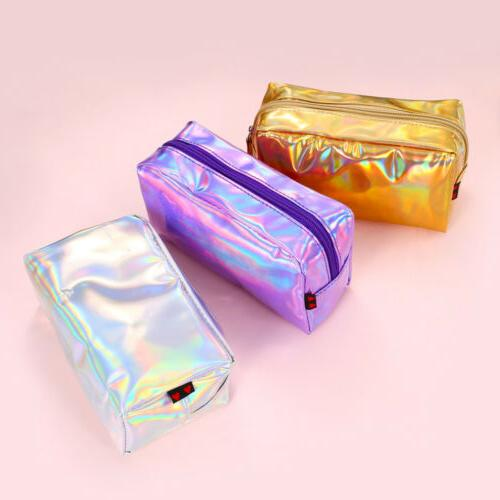 Holographic Multi-Function Purse Travel Cosmetic Bag Pencil