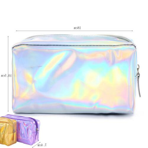 Holographic Multi-Function Box Travel Makeup Cosmetic Pencil Case