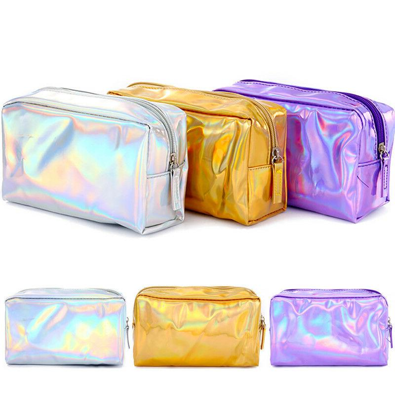 Women Beauty Cosmetic Bag Travel Make Up Pouch Zipper Toilet