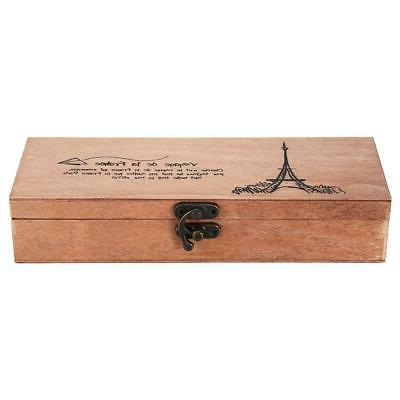 HOT Pencil Wooden Pen Box Storage Holder For Office