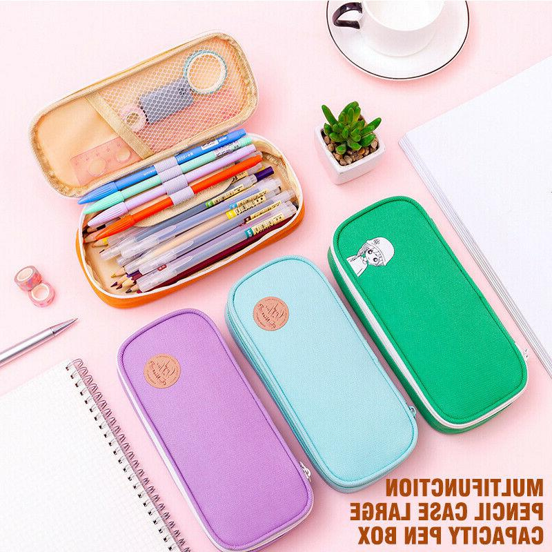 Multifunction Large Capacity Pen Box School Stationery Cosme