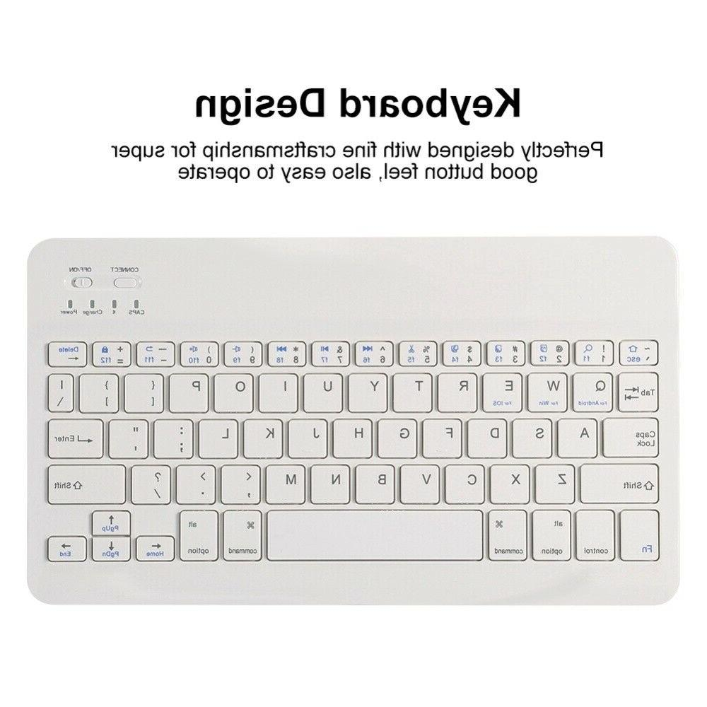 For iPad 2 Huawei Removable Keyboard Pencil Case Cover