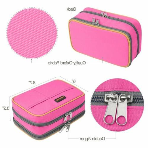 Canvas Large Capacity Stationery Pouch Makeup Cosmetic US