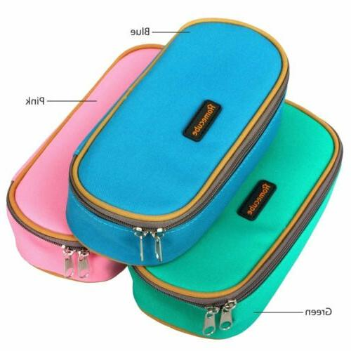 HOMECUBE Pencil Box Cosmetic Makeup Pouch Bag