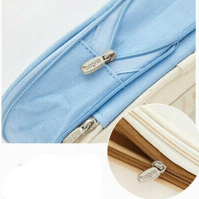 Large Zipper Pencil Case Bag Student