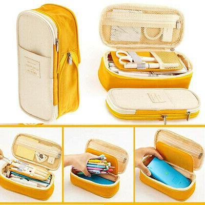 large capacity zipper pencil case pen pouch