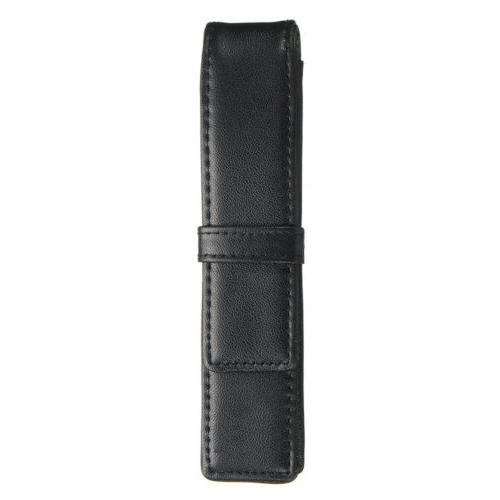 Leather Case Pencil Fountain Holder Single One Black Holder Pouch