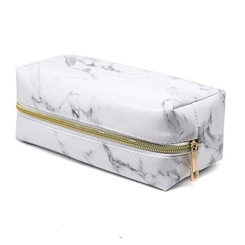 Marble Cosmetic Makeup Bag Gold Bag Ladies Portable Makeup Bag Pouch