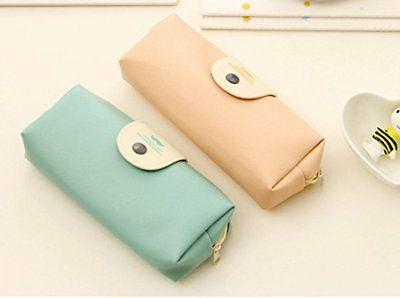 Mziart Minimalist Cartoon Pencil Case Pouch Makeup Bag set 2