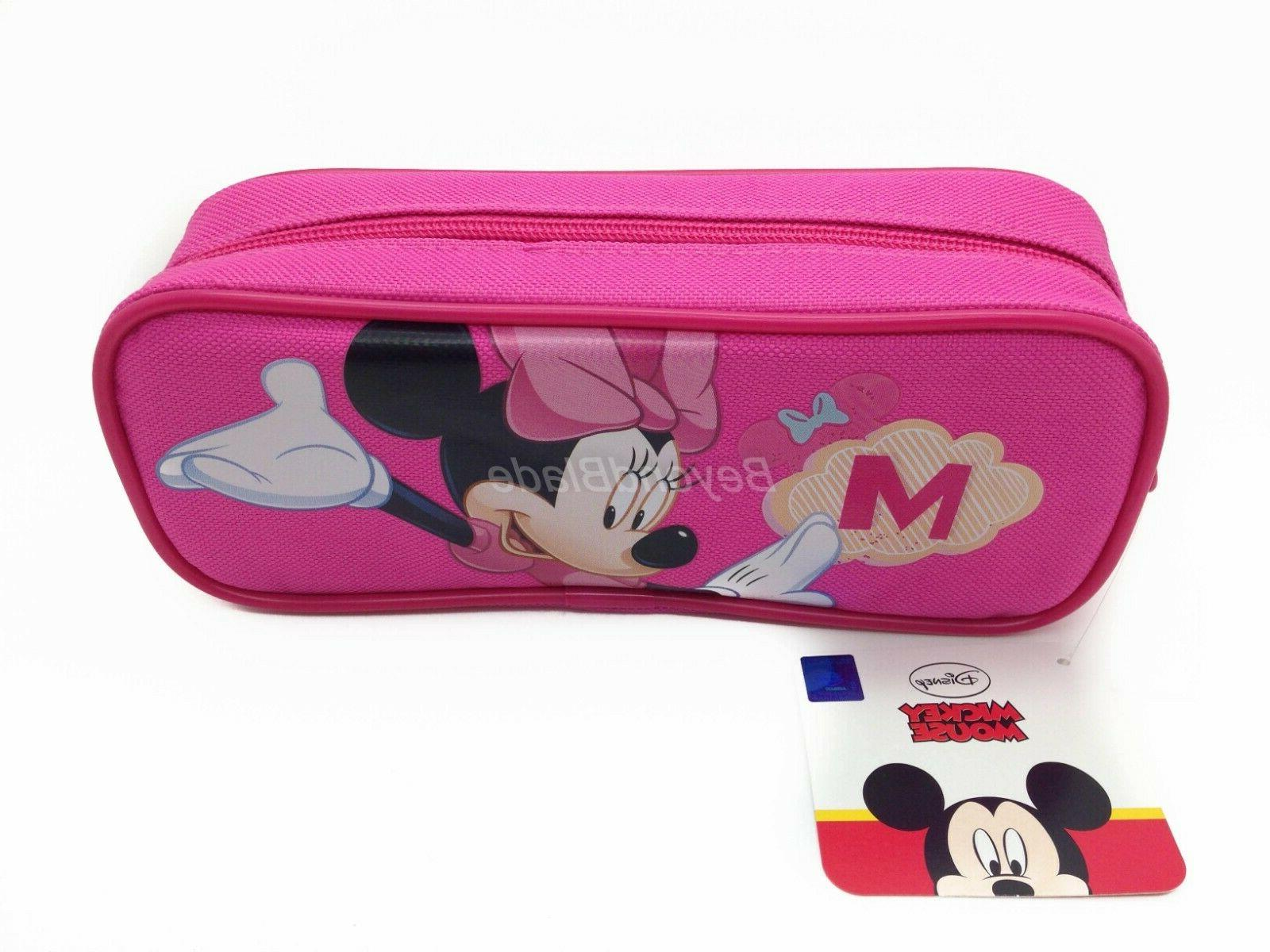 Disney Mouse Pink Pouch Zippered Pencil