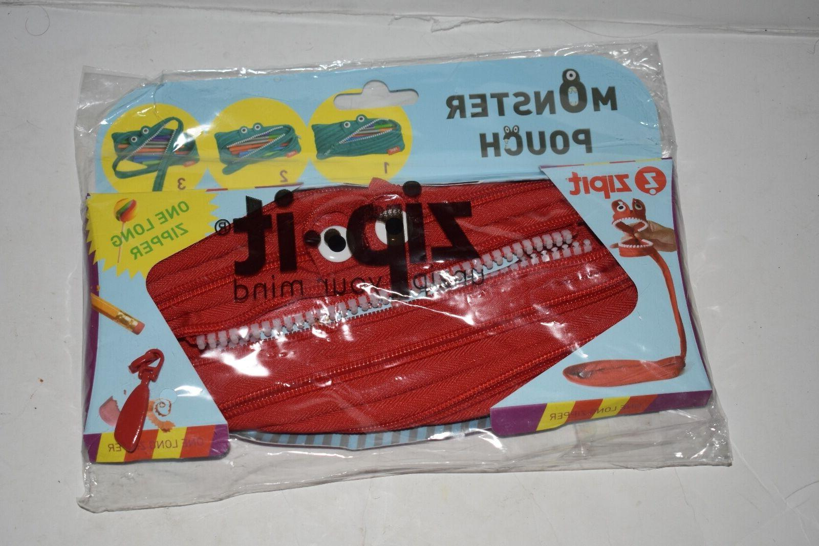 ZIPIT Monster Pencil Case Red