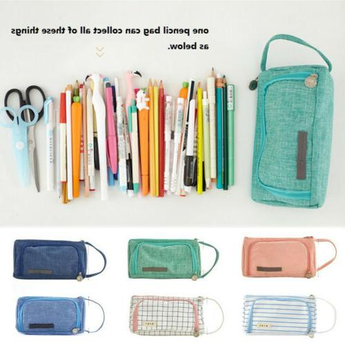 Large Case Pen Stationery Cosmetic