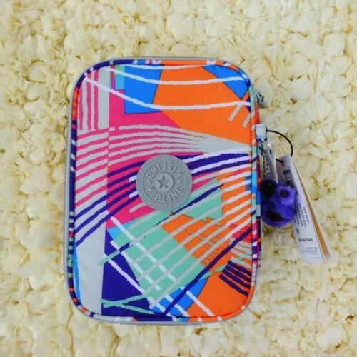 New Kipling 100 Printed Pens Pencil Case Cosmetic Pouch Fies