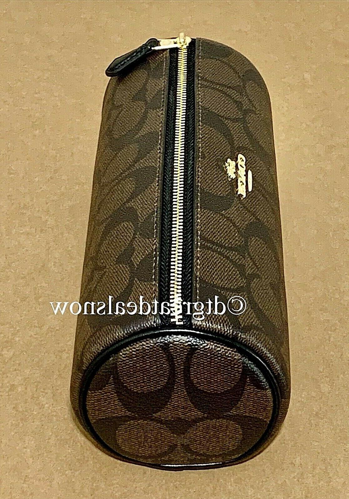 NEW Makeup Brush Pouch Bag Black Brown