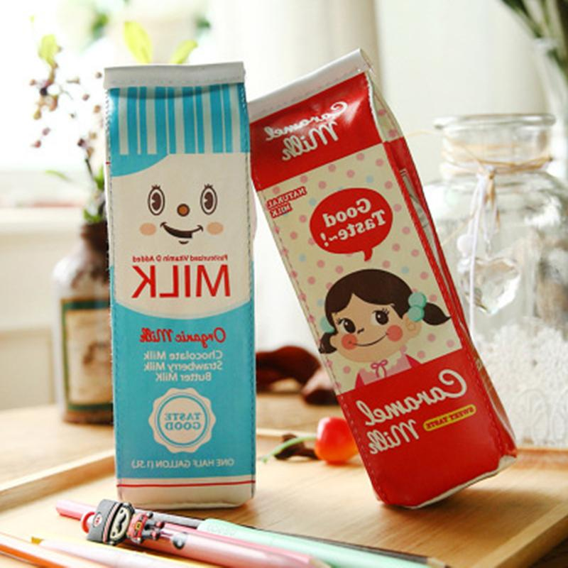 New Milk Cartons Stationery Pouch Bag