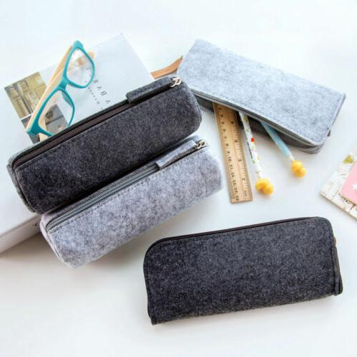new felt pencil pen case cosmetic bag