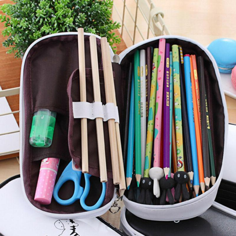 New Pencil Case Pen Pouch Box School Office Stationery Gift