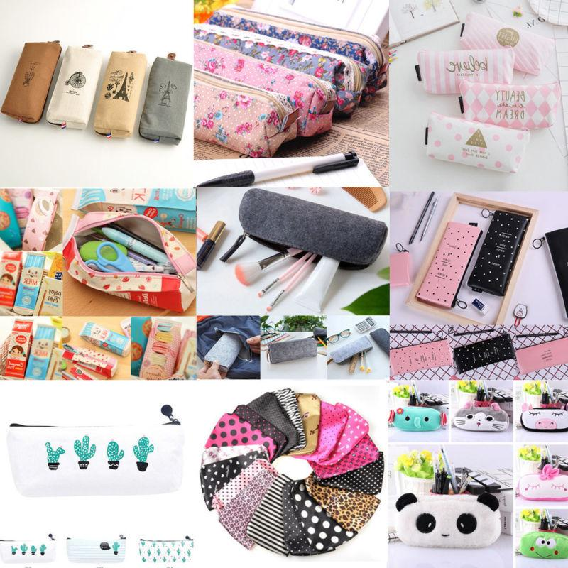 New Pencil Pouch Box Bag School Supplies Stationery Gift
