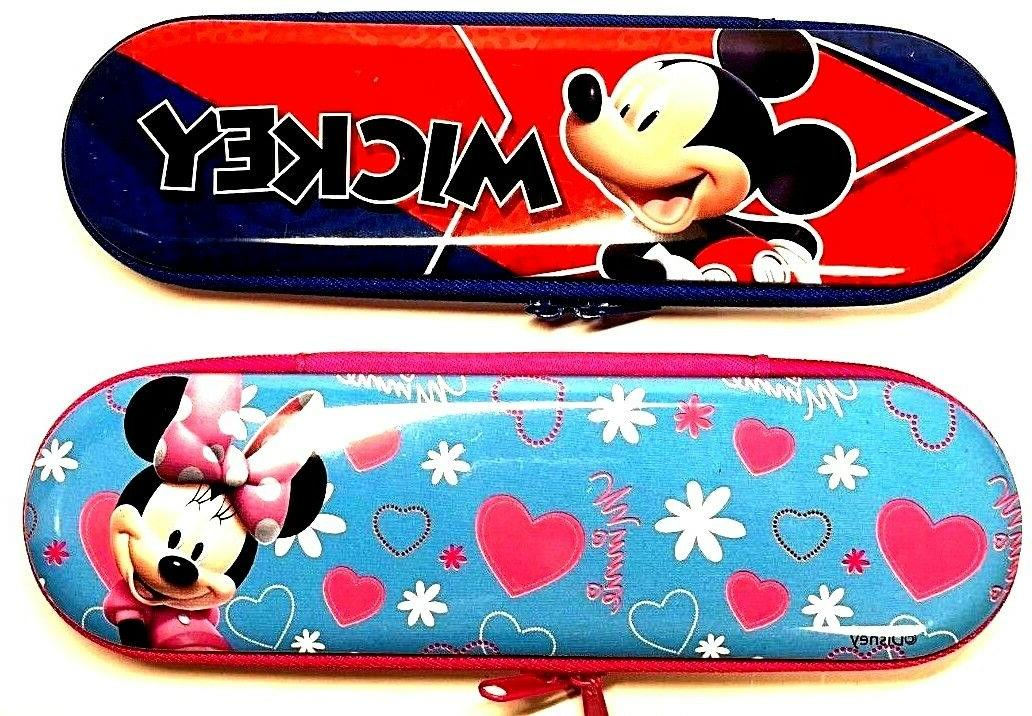 New Disney Pencil Case Zippered Pouch  Mickey and Minnie Mou