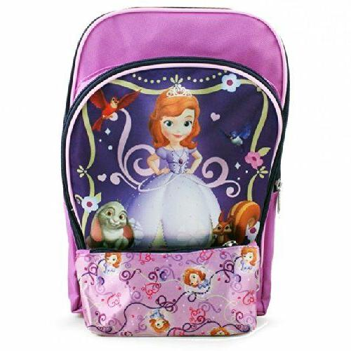 New Sofia the First Toddler Backpack and Pencil Case for Kid