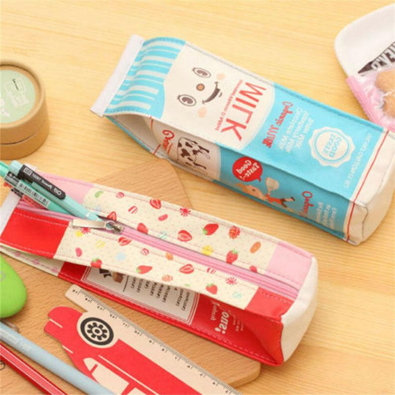 Creative PU Stationery Pouch Pen Bag