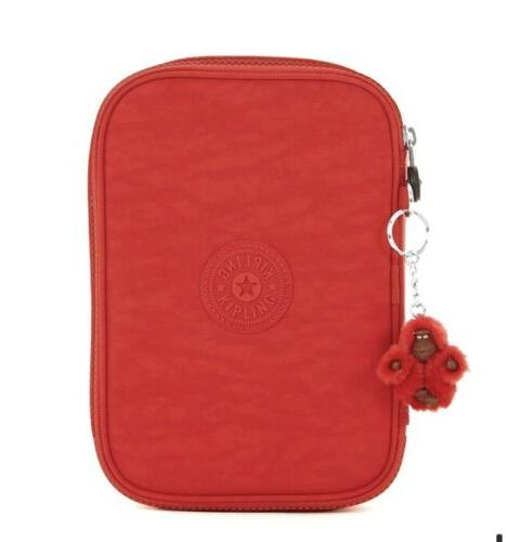 nwt 100 pens pencil case cherry red