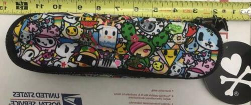 nwt characters zip around cosmetic pencil case