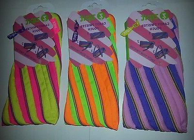 one neon candy pencil and makeup pouch