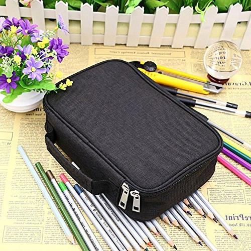 with Zipper Colored Art Canvas Drawing Case