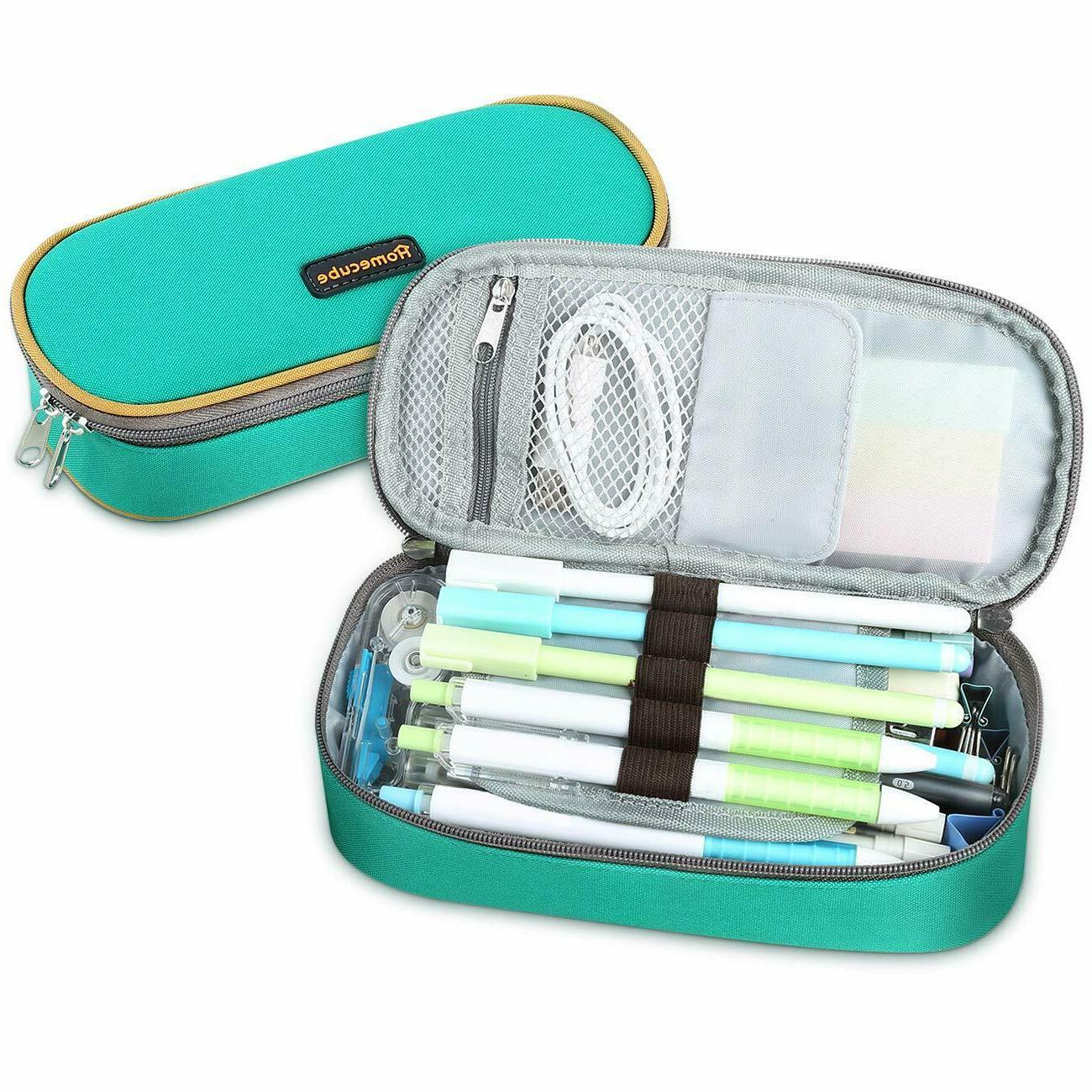 Homecube Pencil Case Big Capacity Makeup Pen Pouch Durable S