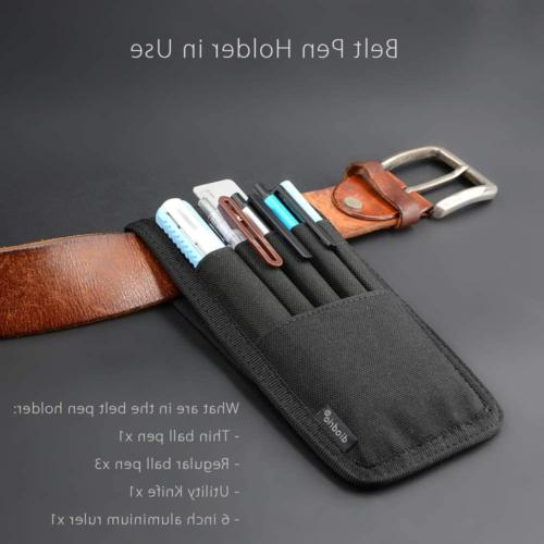 Pen Marker Pouch Case Attached Hold Ruler