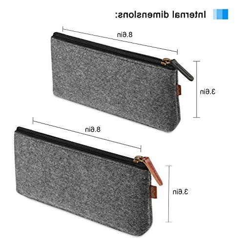 ProCase Pencil Case, Felt Pouch for Pens, Pencils, Highlighters, Pen, Eraser and Other School Pack,