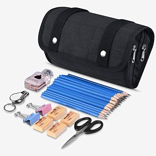 Pencil Case, Big Pencil for Office High School Pouch