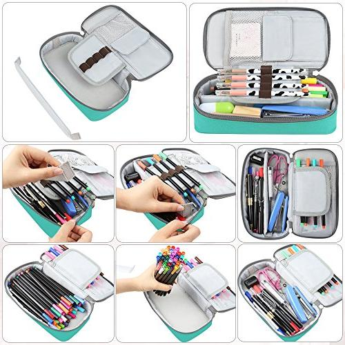 Homecube Pencil Case, Capacity Pen Case Organizer with Zipper - 8.74x4.3x2.17