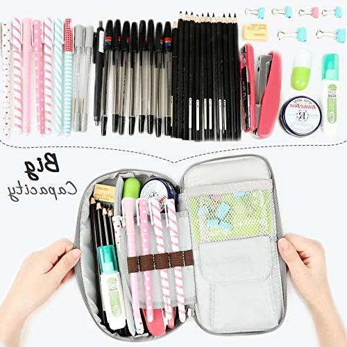 Homecube Pencil Capacity Case Desk Organizer with School -