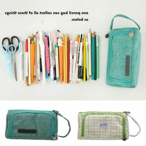 Pencil Case Large Capacity Multifunction Pen Box Cosmetic Bags