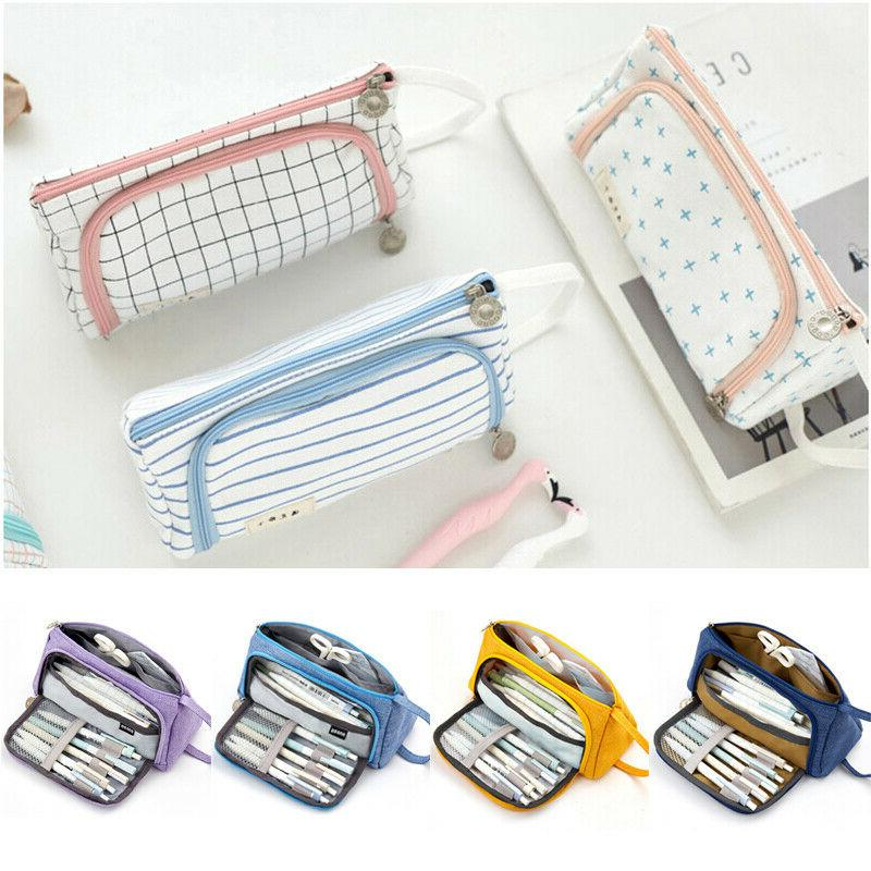 School Pencil Box Lovely Canvas Bags