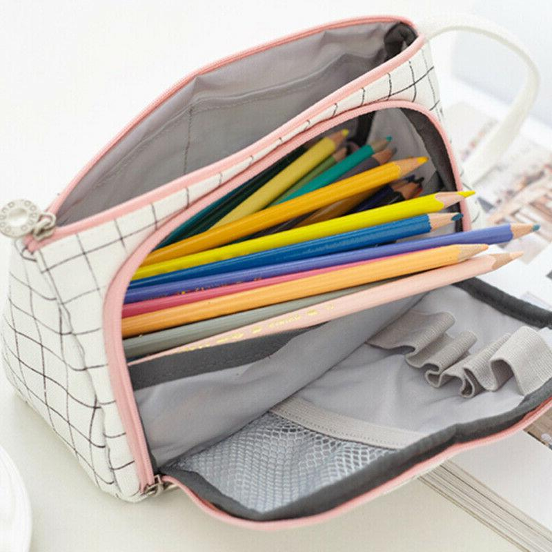 School Student Pencil Box Lovely Pen Bag UP Bags US